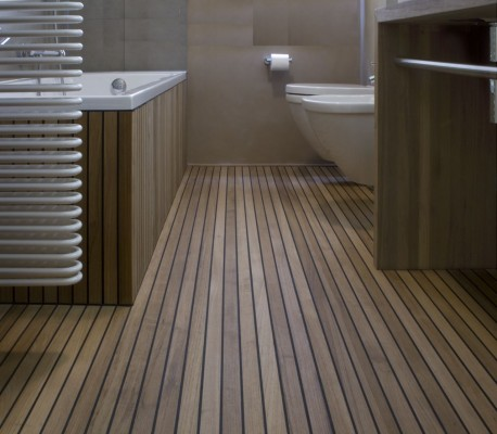 Parquet and decking designed to make a house your home for Teak tiles bathroom